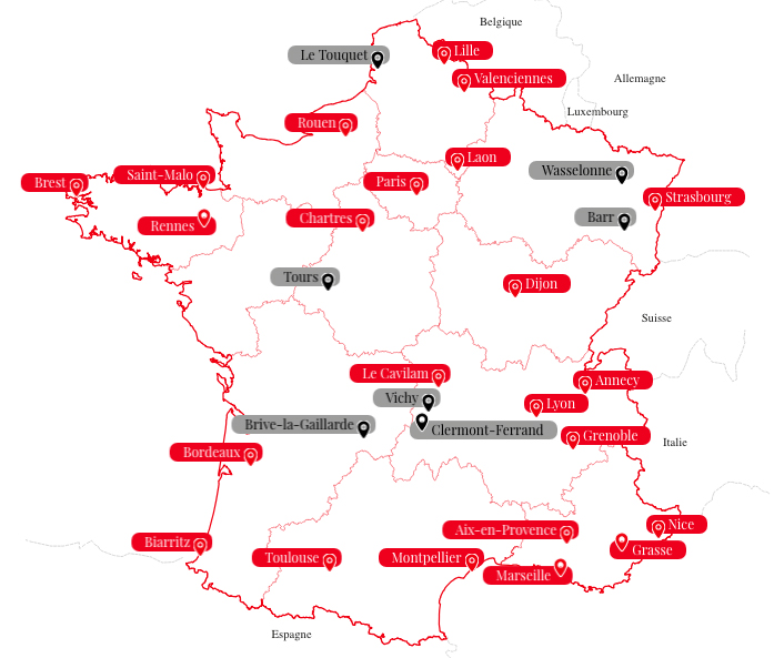Map Of France In French Language.Study French In France Alliance Francaise Glasgow